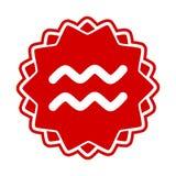Dierenriemteken Waterman Royalty-vrije Stock Afbeelding
