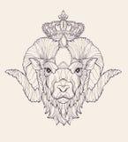 Dierenriemtekens: Ram Royalty-vrije Stock Afbeelding