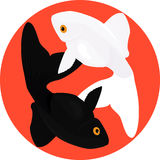 Dierenriemvissen Twee vissen, symbool van yin en yang Stock Fotografie