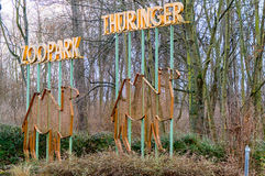 Dierentuinpark Erfurt Thuringia stock afbeeldingen