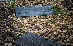 Dierenvoer op houten vloer Royalty-vrije Stock Foto's