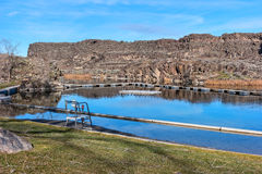 Dierkes Lake near Shoshone Falls, Idaho Stock Images