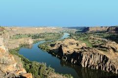 Dierkes lake park. And snake river near twin falss in Idaho, usa Royalty Free Stock Image