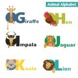 Dierlijk alfabet Royalty-vrije Stock Foto