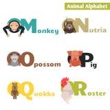Dierlijk alfabet Royalty-vrije Stock Afbeeldingen