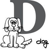 Dierlijk alfabet D (hond) Stock Foto's
