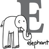 Dierlijk alfabet E (olifant) Stock Afbeelding