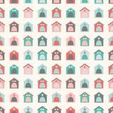 Dierlijk naadloos patroon van kennel vector illustratie