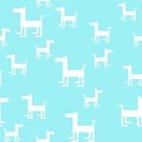 Dierlijk naadloos vectorpatroon van hondsilhouetten Stock Afbeelding