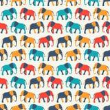 Dierlijk naadloos vectorpatroon van olifant Stock Foto's