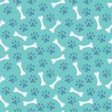 Dierlijk naadloos vectorpatroon van pootvoetafdruk Royalty-vrije Stock Afbeeldingen