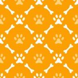 Dierlijk naadloos vectorpatroon van pootvoetafdruk Royalty-vrije Stock Foto