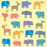 Dierlijk patroon Stock Foto