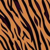Dierlijk patroon als achtergrond - de textuur van de tijgerhuid Royalty-vrije Stock Foto