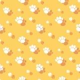Dierlijk Paw Print Seamless Wildlife Pattern stock illustratie