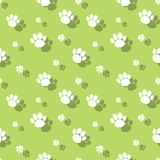 Dierlijk Paw Print Seamless Wildnature Pattern stock illustratie