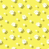 Dierlijk Paw Print Wildlife Seamless Background royalty-vrije illustratie