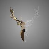 Dierlijke abstracte veelhoekige illustratie van het herten de lage polyportret stock illustratie