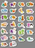 Dierlijke alfabetbrief a-z Stock Foto