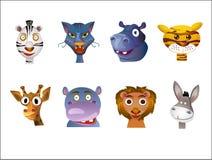 Dierlijke avatars Stock Afbeelding