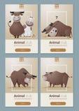 Dierlijke banner met Koeien voor Webontwerp Stock Afbeeldingen