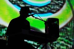 Dierlijke Collective (elektronische band) presteert in Poble Espanyol Stock Afbeeldingen