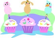 Dierlijke Cupcakes Royalty-vrije Stock Fotografie