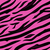 Dierlijke de huidtextuur van de achtergrondpatroon roze tijger Stock Afbeelding