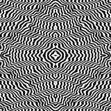 Dierlijke druk, gestreepte huid Illusive achtergrond, herhaalt tegels stock illustratie