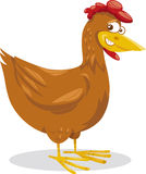 Dierlijke het beeldverhaalillustratie van het kippenlandbouwbedrijf Stock Foto