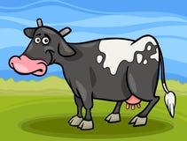 Dierlijke het beeldverhaalillustratie van het koelandbouwbedrijf Stock Foto
