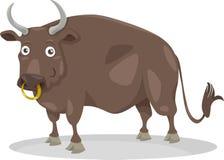 Dierlijke het beeldverhaalillustratie van het stierenlandbouwbedrijf Stock Fotografie