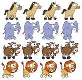 Dierlijke het Lopen animatie. Royalty-vrije Stock Fotografie