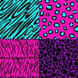 Dierlijke huid naadloze patronen in heldere kleuren Royalty-vrije Stock Foto