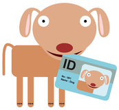 Dierlijke identiteitskaart Stock Foto's