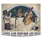 Dierlijke jazz stock illustratie