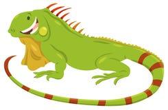 Dierlijke karakter van de beeldverhaal het groene leguaan royalty-vrije illustratie