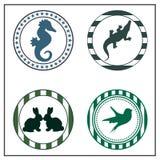 Dierlijke kentekens Royalty-vrije Stock Afbeeldingen