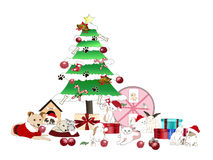 Dierlijke Kerstmispartij Stock Foto's