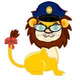 Dierlijke leeuwpolitie Stock Foto