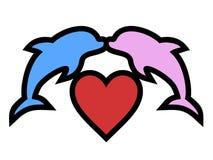 Dierlijke liefde Stock Afbeeldingen
