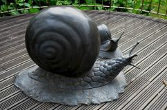 Dierlijke metaalbeeldhouwwerken bij Nationaal Bos de recreatiegebied van Zhiben, Taiwan Stock Afbeelding