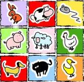 Dierlijke pictogrammen Stock Foto's