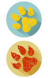 Dierlijke pootdruk Stock Afbeeldingen