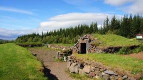 Dierlijke schuilplaats in Reykholt in IJsland royalty-vrije stock afbeelding