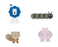 Dierlijke Stickers Stock Foto's