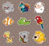 Dierlijke stickers Stock Afbeelding