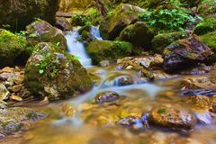 Diery janosikove водопадов в Словакии стоковое фото rf
