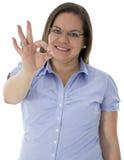 Diese Frau sagen guten Job Lizenzfreie Stockfotos