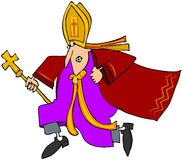 Laufender Papst Stockbilder